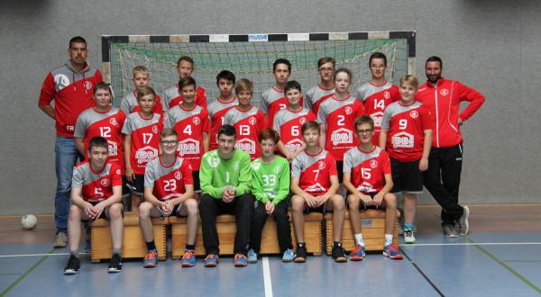 Mannschaftsfoto unerer männlichen Jugend C
